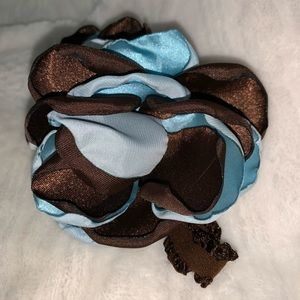 Other - Handmade light blue and brown headband